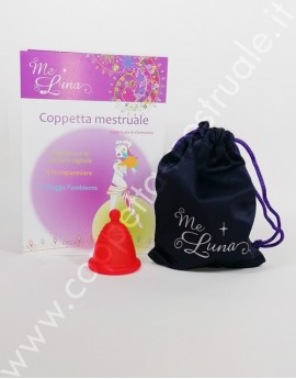 Menstrual cup Meluna Shorty Classic Red with handyball