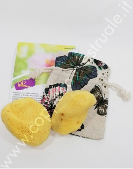 Duo Sea Sponge Small LetItFlow in linen storage bag