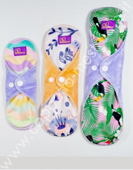 Starter Kit velour bamboo cloth pads LetItFlow Mix (S+M+L)
