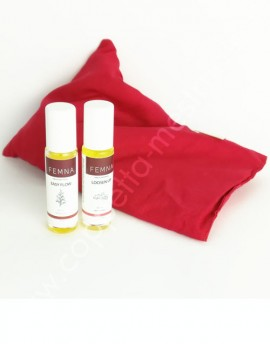 Kit SOS Disturbi Mestruazioni (Olio Loosen Up+ Olio Easy Flow + cuscino riscaldante Cherry)
