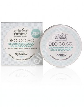 Solid deodorant organic CO.SO -Neutro (Senza profumo) 50ml