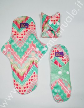 Trial Package velour bamboo cloth pads pastel (S+M+L)
