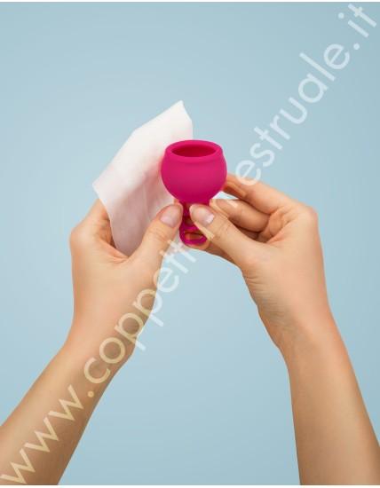 Salviette Merula per igienizzare coppetta e toys