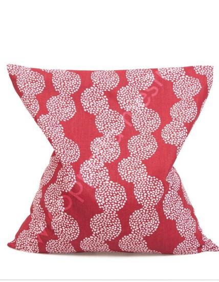 Cuscino con noccioli di ciliegio Palma rosso 19x19 cm