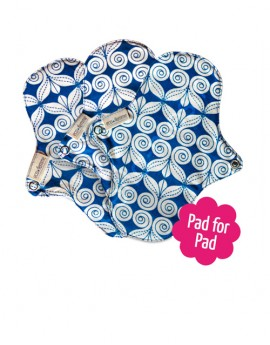 Eco femme- Kit 3 pantyliner with PUL Natural Organic
