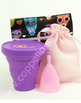 Cuplee compact Kit LetItFlow rosa