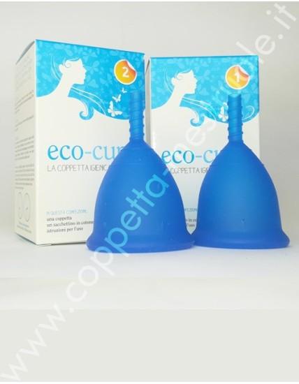 Coppetta Eco-cup blu taglia 1