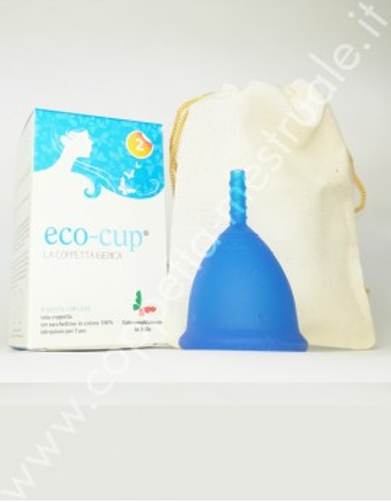 Coppetta Eco-cup blu taglia 2