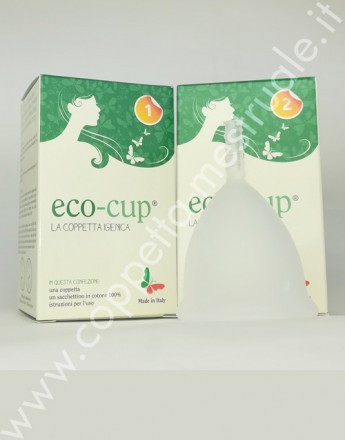 Eco-cup menstrual cup clear color