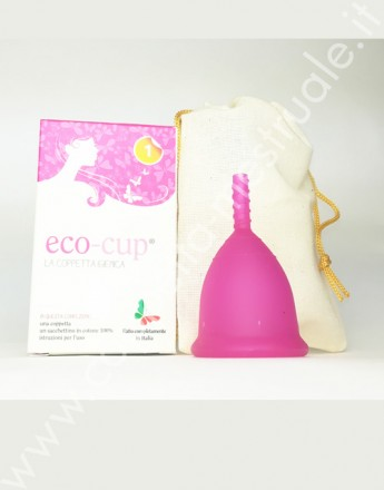 Eco-cup menstrual cup blu size 1