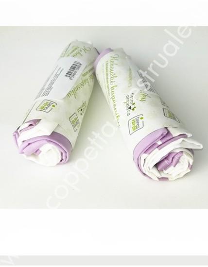 6 Fazzoletti in stoffa cotone biologico (28x28 cm)