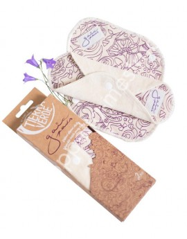 Gaiapads pantyliners organic cotton velvet /purple – 4 pcs