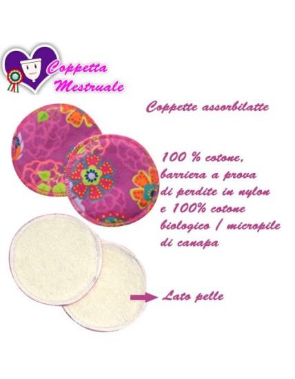 Coppette assorbilatte PIMP - Honeysuckles