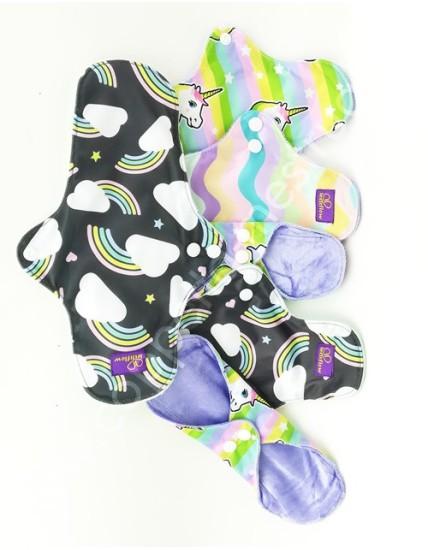 Set assorbenti lavabili LetitFlow MiLunita Yaya (2S,3M,1L)