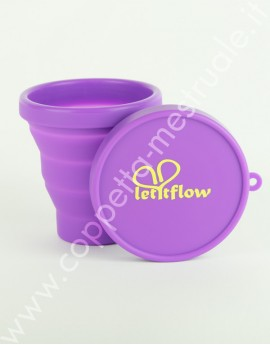 Sterilising foldable silicon cup Letitflow