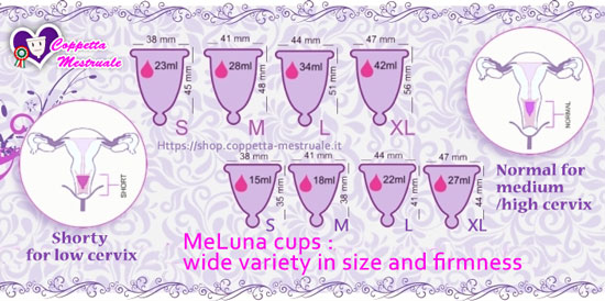 Meluna menstrual cup sizes available shop
