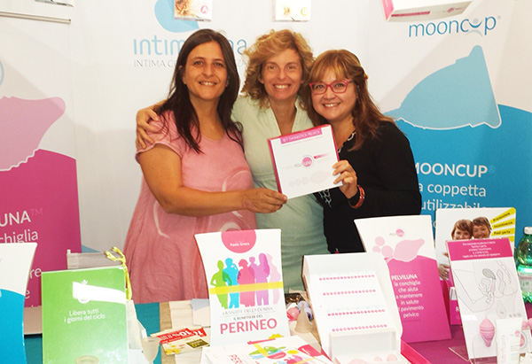 Mooncup menstrual cup in Italy